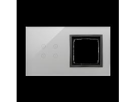 Dotykový panel 2 moduly 4 dotykové polia, otvor pre príslušenstvo Simon 54, Búrková/antracit