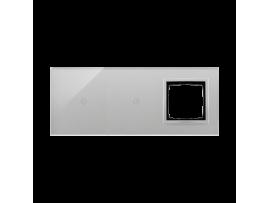 Dotykový panel 3 moduly 1 dotykové pole, 1 dotykové pole, otvor pre príslušenstvo Simon 54, búrková/striebro