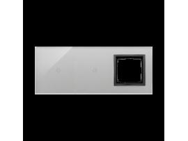 Dotykový panel 3 moduly 1 dotykové pole, 1 dotykové pole, otvor pre príslušenstvo Simon 54, Búrková/antracit