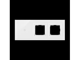 Dotykový panel 3 moduly 1 dotykové pole, otvor pre príslušenstvo Simon 54, otvor pre príslušenstvo Simon 54, perlová/biela