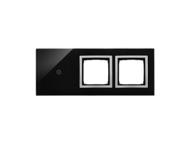 Dotykový panel 3 moduly 1 dotykové pole, otvor pre príslušenstvo Simon 54, otvor pre príslušenstvo Simon 54, Lávová/striebro
