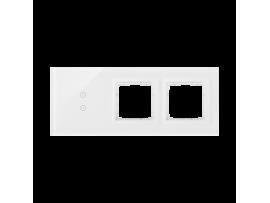 Dotykový panel 3 moduly 2 vertikálne dotykové polia, otvor pre príslušenstvo Simon 54, otvor pre príslušenstvo Simon 54, perlová/biela
