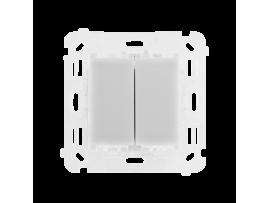 Dvojitý žalúziový spínač 230V, 2x2A
