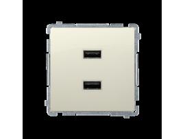Dvojitá USB nabíjačka béžový 2,1A