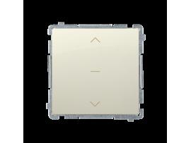 Spínač žalúziový jednonásobný trojpolohový (1-0-2) (prístroj s krytom) 10A 250V, pružinové svorky, béžový