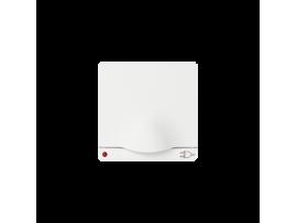 Kryt jednoduchej zásuvky s uzemnením typu Schuko kryt s klapkou a indikátorom napájania pre zásuvku Schuko biela grafit