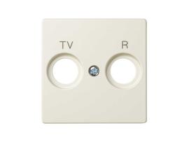 Kryt anténnej zásuvky R-TV-SAT STIAHNUTÝ Z PONUKY - do vypredania zásob béžový