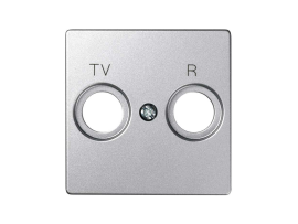 Kryt anténnej zásuvky R-TV-SAT STIAHNUTÝ Z PONUKY - do vypredania zásob studený hliník