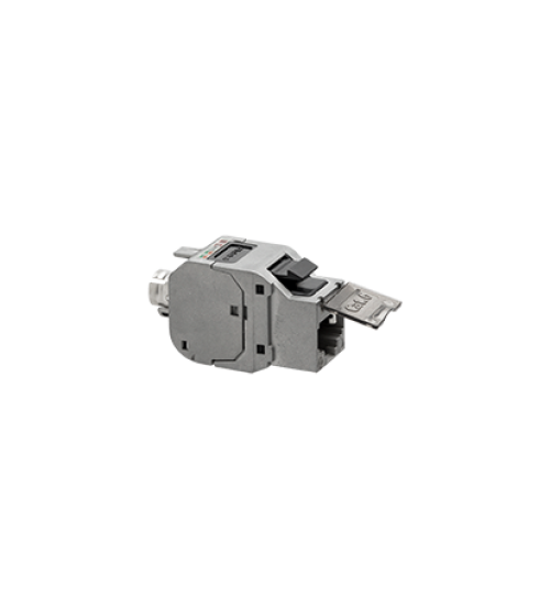 Vklad počítačovej zásuvky RJ45 kat.6, tienený (FTP) nerezová oceľ