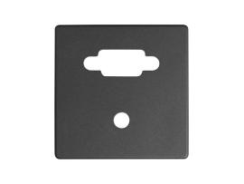 Kryt pre zásuvka VGA + mini jack grafit