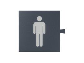 Filter pre grafitový svetelný kláves - piktogram Muž šampanský mat, metalizovaný