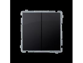 Sériový spínač s orientačným podsvietením nevymeniteľný LED farba: modrá (prístroj s krytom) 10AX 250V, pružinové svorky, saténový, metalizovaný