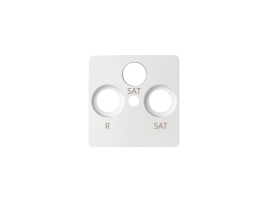 Kryt anténnej zásuvky SAT-SAT-RTV biela