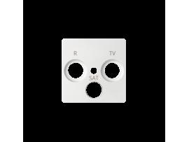 Kryt anténnej zásuvky R-TV-SAT biela