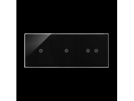 Dotykový panel 3 moduly 1 dotykové pole, 1 dotykové pole, 2 pola dotykowe poziome, lávová/antracit