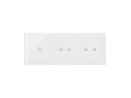 Dotykový panel 3 moduly 1 dotykové pole, 2 horizontálne dotykové polia, 2 pola dotykowe poziome, perlová/biela
