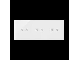 Dotykový panel 3 moduly 2 horizontálne dotykové polia, 2 horizontálne dotykové polia, 2 pola dotykowe poziome, perlová/biela