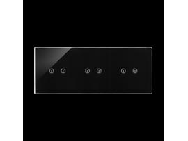 Dotykový panel 3 moduly 2 horizontálne dotykové polia, 2 horizontálne dotykové polia, 2 pola dotykowe poziome, lávová/antracit
