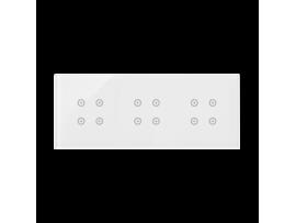 Dotykový panel 3 moduly 4 dotykové polia, 4 dotykové polia, 4 dotykové polia, perlová/biela