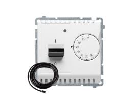 Termostat s displejom s vonkajším senzorom (sondou) biela
