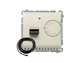 Termostat s displejom s vonkajším senzorom (sondou) béžový