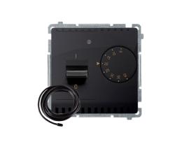 Termostat s displejom s vonkajším senzorom (sondou) grafit mat. metalizovaný