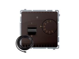 Termostat s displejom s vonkajším senzorom (sondou) čokoládový mat. metalizovaný