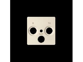 Kryt anténnej zásuvky R-TV-SAT béžový
