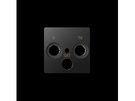 Kryt anténnej zásuvky R-TV-SAT grafit