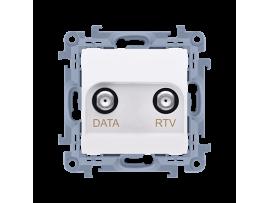 Anténna zásuvka RTV-DATA tlm.:10dB biela
