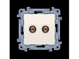 Reproduktorová zásuvky jednoduchá krémová