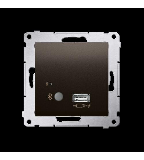 Prijímač Bluetooth a nabíjačku USB hnedá matná