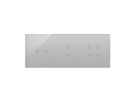 Dotykový panel 3 moduly 2 horizontálne dotykové polia, 2 vertikálne dotykové polia, 4 dotykové polia, búrková/striebro