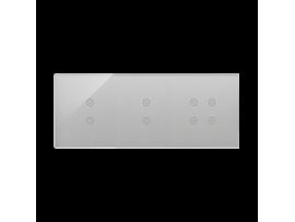 Dotykový panel 3 moduly 2 vertikálne dotykové polia, 2 vertikálne dotykové polia, 4 dotykové polia, búrková/striebro