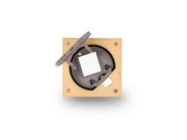 Vklad podlahovej krabice KSE IP66 prázdny pre 1 modul K45 mosadz :IK07