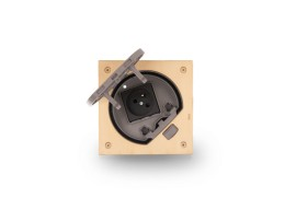 Vklad podlahovej krabice KSE IP66 so zásuvkou s uzemnením mosadz :IK07