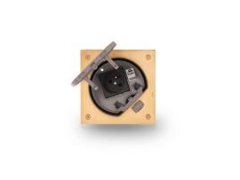 Vklad podlahovej krabice KSE IP66 s uzemnenou zásuvkou a RJ45 kat.5e mosadz :IK07