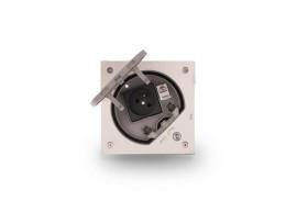 Vklad podlahovej krabice KSE IP66 na imbusový kľúč s uzemnenou zásuvkou a RJ45 kat.5e nerezová oceľ :IK07