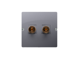 Reproduktorová zásuvky jednoduchá nerez, metalizovaný