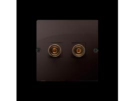 Reproduktorová zásuvky jednoduchá čokoládový mat. metalizovaný
