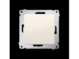 Jedno tlačidlo spínacie bez piktogramu, radenie č. 1/0 (prístroj s krytom) 10AX 250V, pružinové svorky, krémová