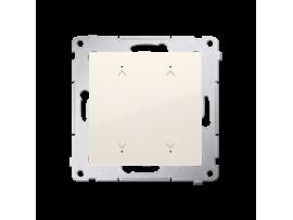 Elektronický dvojity spínač/tlačidlo žalúziové krémová 6A