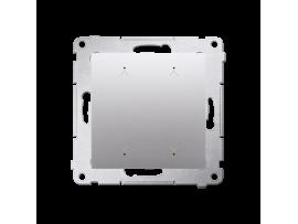 Elektronický dvojity spínač/tlačidlo žalúziové strieborná matná 6A