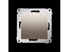 Elektronický dvojity spínač/tlačidlo žalúziové zlatá matná 6A