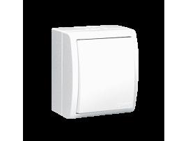 Jednopólový spínač s krytím IP44 biela 10AX