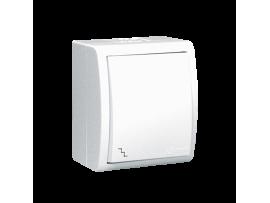 Striedavý prepínač s orientačným podsvietením biela 10AX