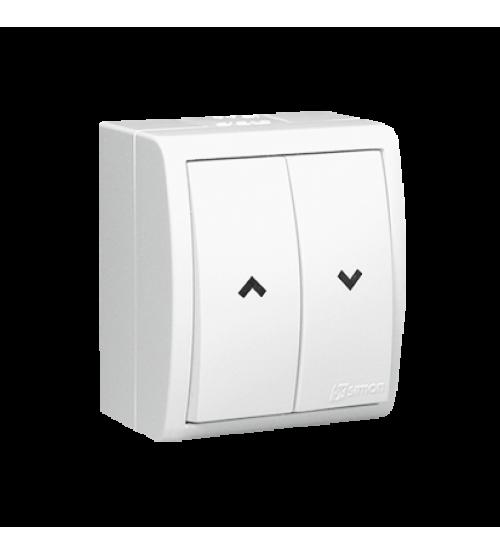 Žalúziové tlačidlo s krytím IP54 biela 0AX 10A