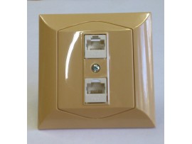 Alpina zásuvka dátová CAT6 2xRJ45 medová