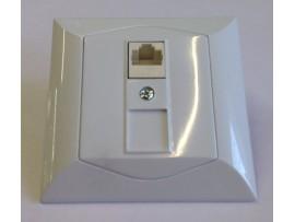 Alpina zásuvka dátová CAT6 1xRJ45 biela