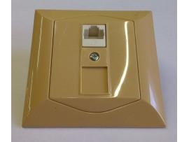 Alpina zásuvka dátová CAT6 1xRJ45 medová